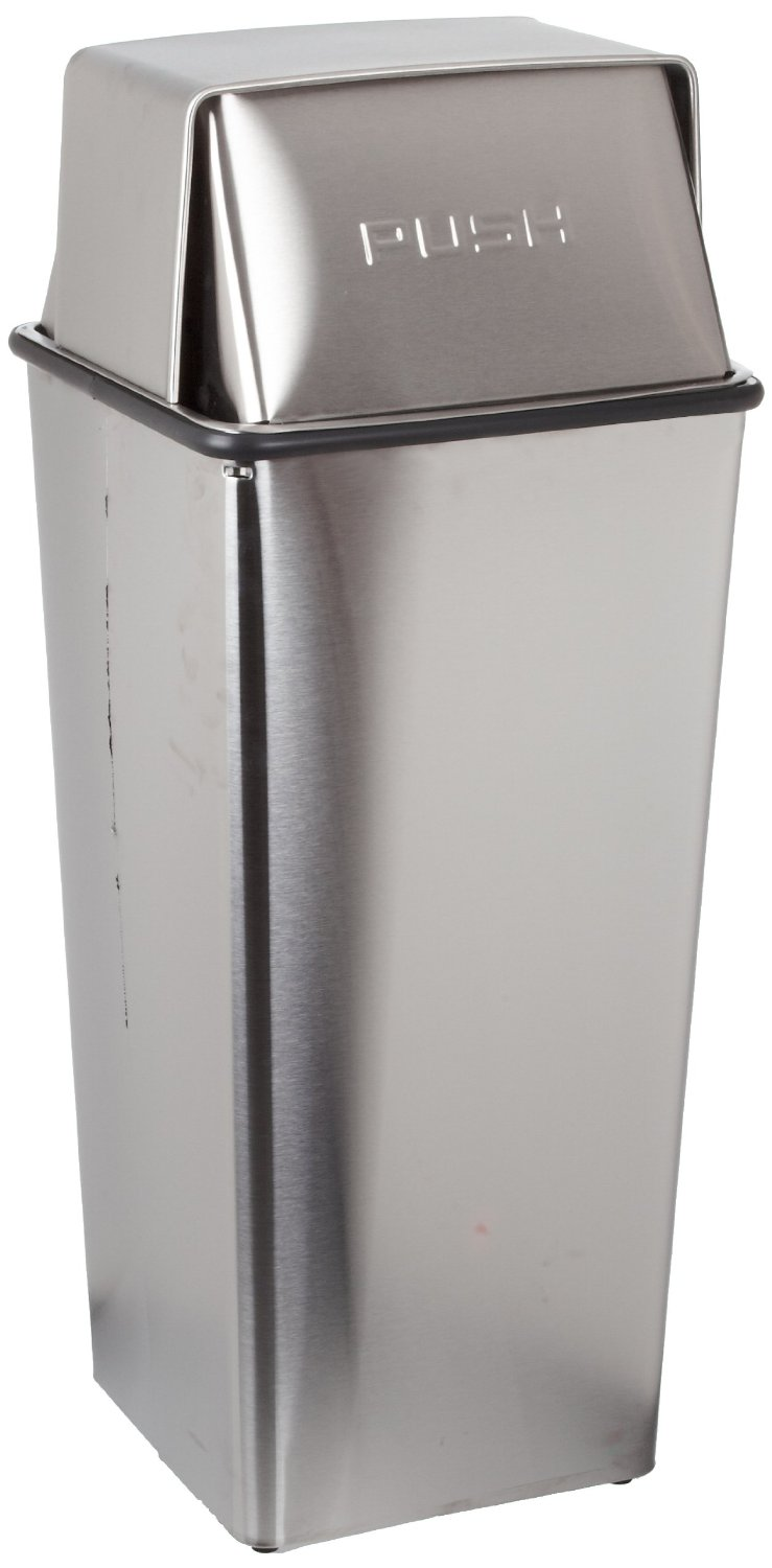 Stainless Steel Hamper And Top With Push Doors
