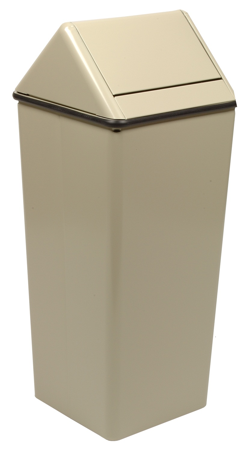 Large, Painted Hamper And Swing Top, Almond