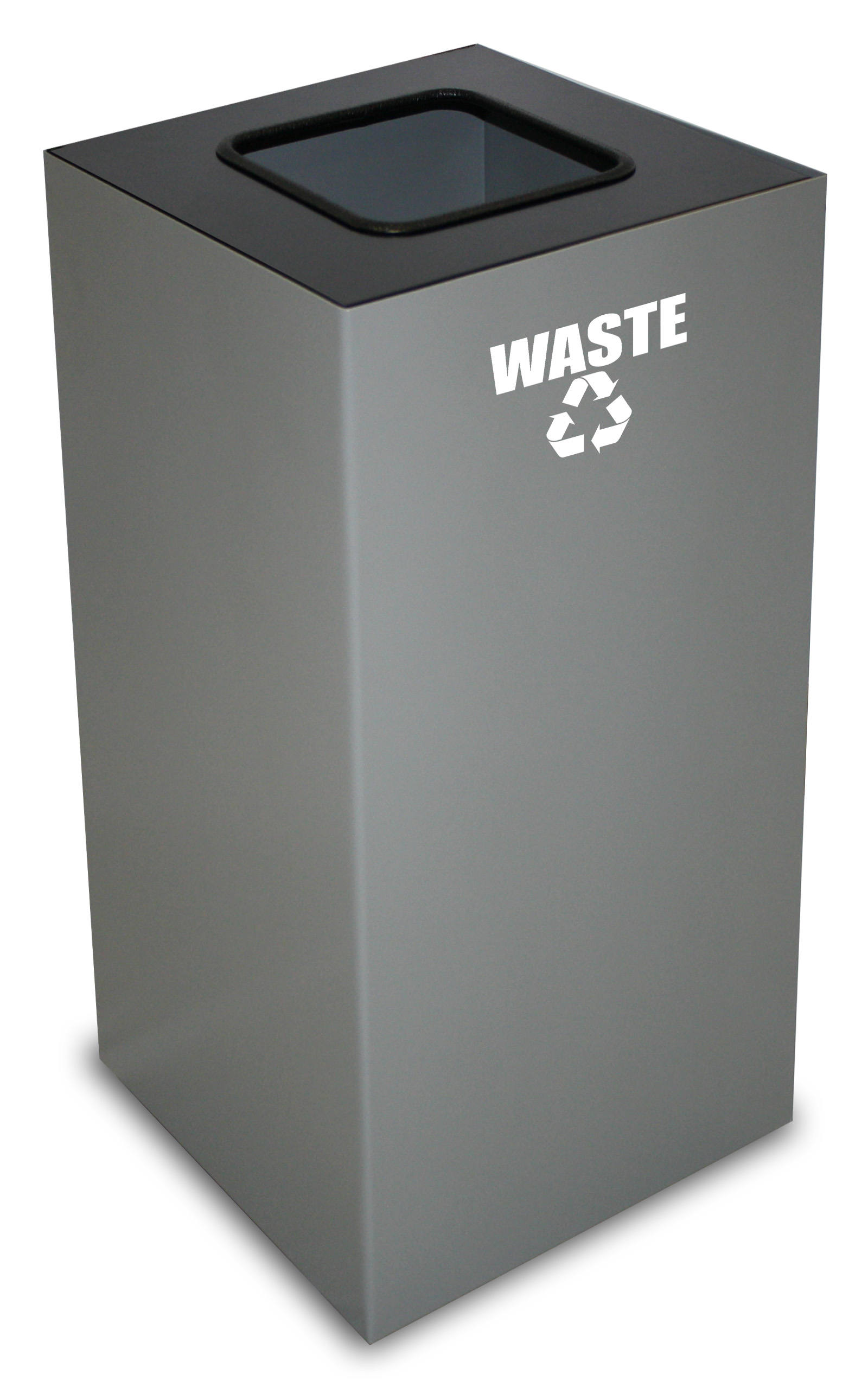 Square Recycling Container, Slate