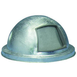 Hot Dipped Galvanized Dome Top Lid With Push Door