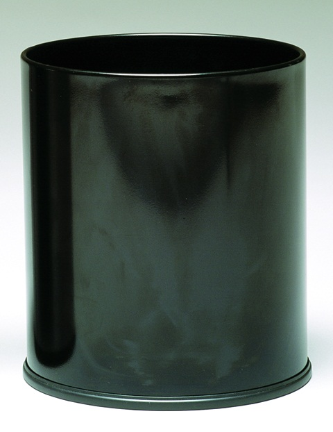 Executive Wastebasket, Black