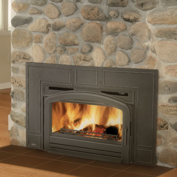 EPI3T Napoleon Traditional Flush Front Minimum Wood Burning Fireplace Insert, Metallic Black