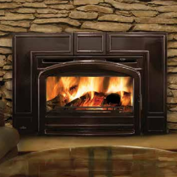 EPI3TN Napoleon Traditional Flush Front Minimum Wood Burning Fireplace Insert, Majolica Brown