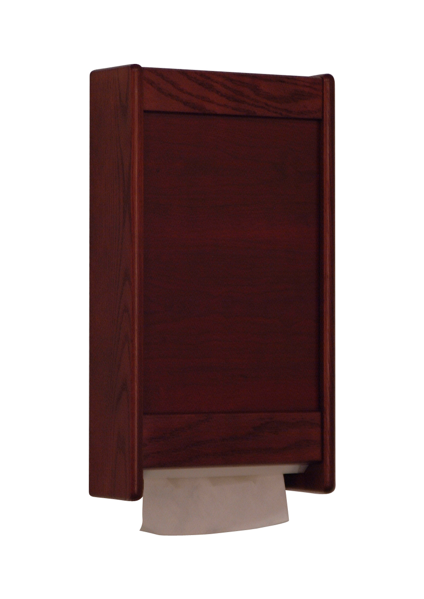 Wooden Mallet C-Fold / Multi-Fold Paper Towel Dispenser Kit Mahogany