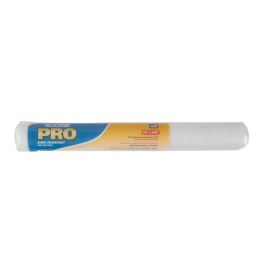 WOOSTER� PRO HIGH DENSITY WOVEN ROLLER COVER, 18 IN. X 3/8 IN. NAP