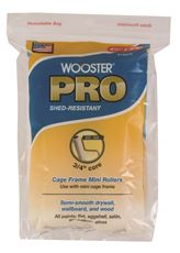 WOOSTER� PRO HIGH DENSITY WOVEN CAGE FRAME MINI ROLLER, 4-1/2 IN. X 3/8 IN. NAP, 2 PER PACK