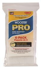 WOOSTER� PRO HIGH DENSITY WOVEN CAGE FRAME MINI ROLLER,  4-1/2 IN. X 3/8 IN. NAP, 6 PER PACK
