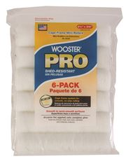 WOOSTER� PRO HIGH DENSITY WOVEN CAGE FRAME MINI ROLLER, 6-1/2 IN. X 3/8 IN. NAP, 6 PER PACK