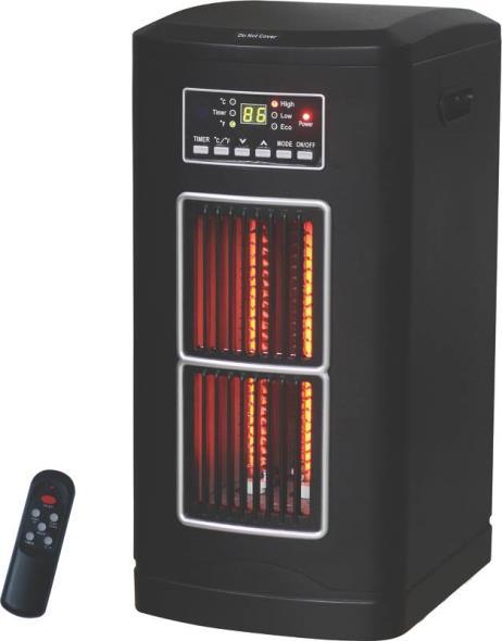 Comfort Glow Infrared Quartz Tower Heater