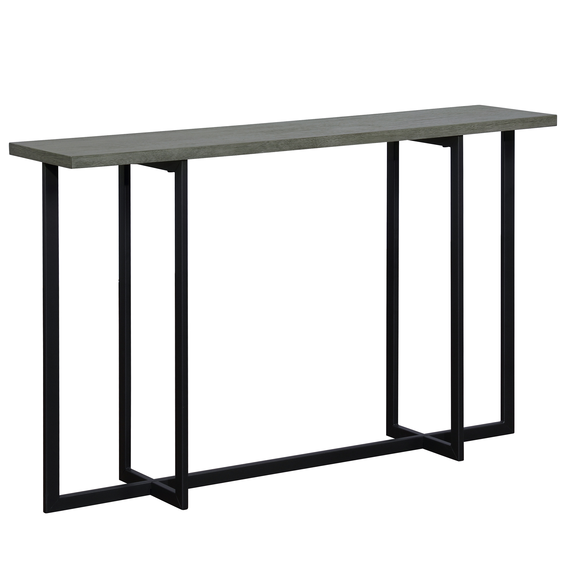 Modern MDF & Metal Console Table in Grey