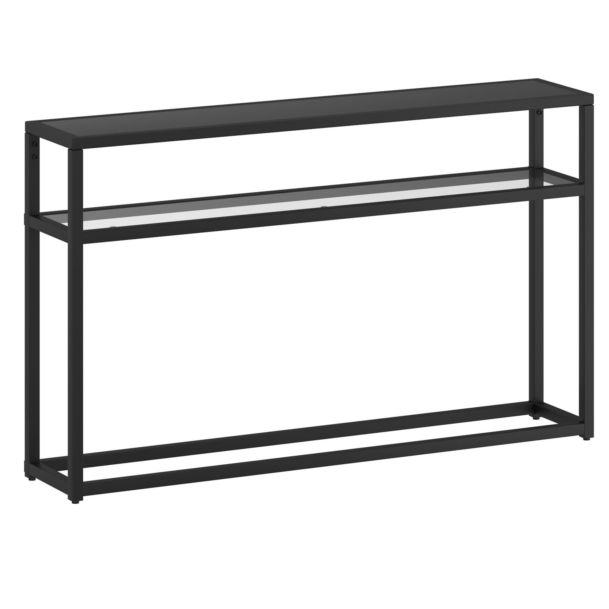 Contemporary MDF & Metal & Glass Console Table in Black