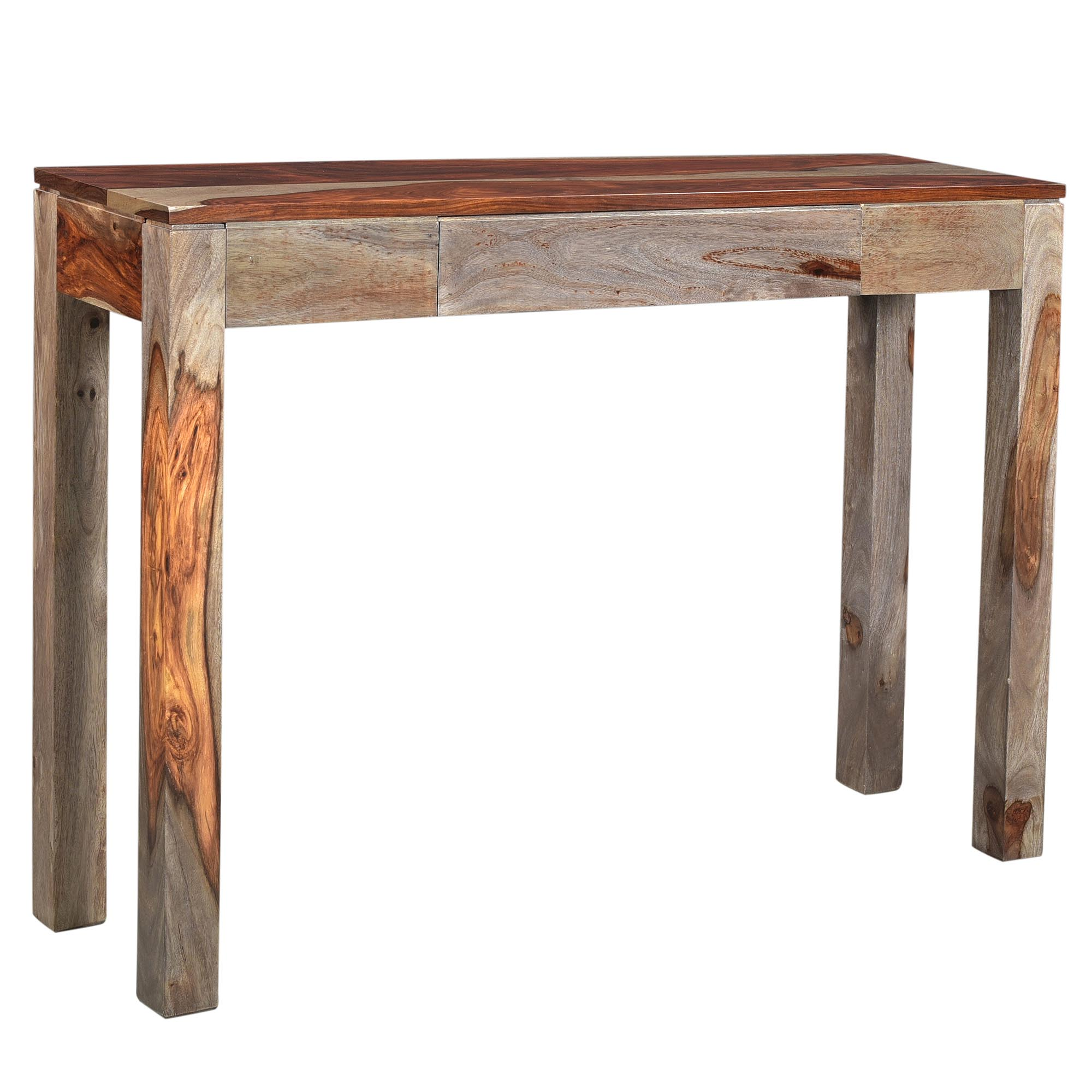 Rustic Modern Solid Wood Console/Desk in Grey