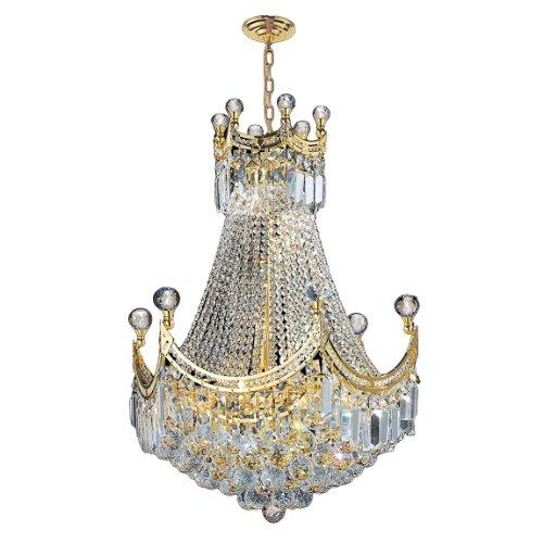 "Empire Collection 9 Light Gold Finish Chandelier 20"" D x 26"" H Round Medium"