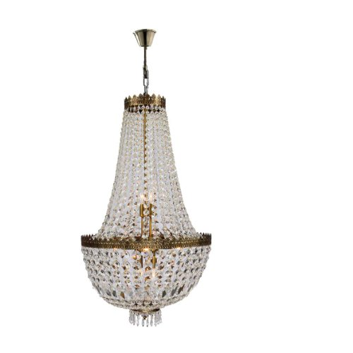 """Metropolitan Collection 8 Light Antique Bronze Finish and Clear Crystal Chandelier 20"""" D x 36"""" H Medium"""