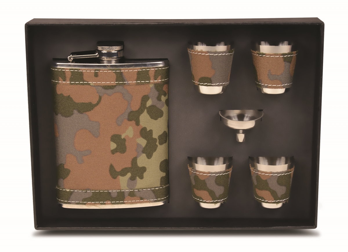 Flask Gift Set - Camouflage