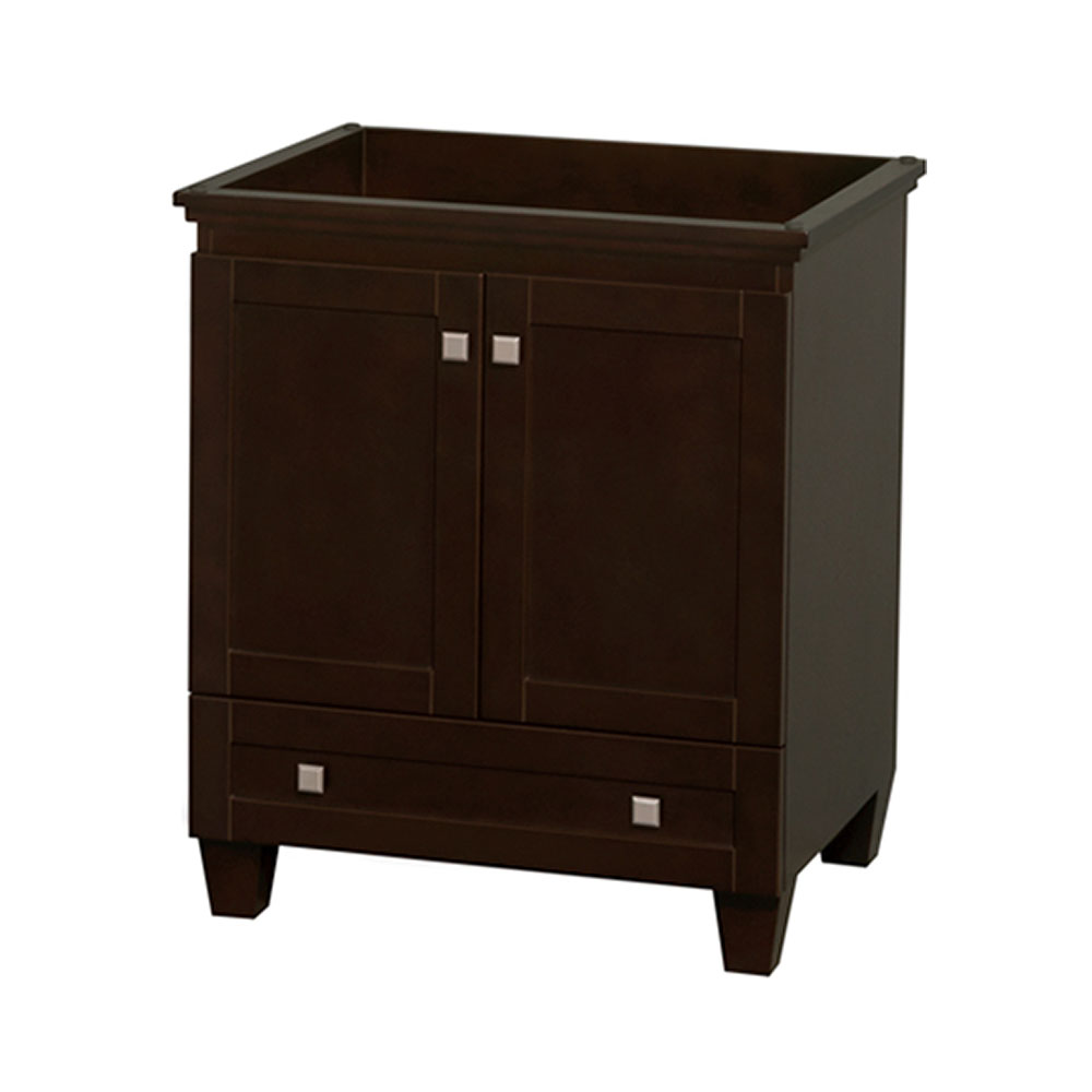 30 in. Single Bathroom Vanity in Espresso, No Countertop, No Sink, and No Mirror