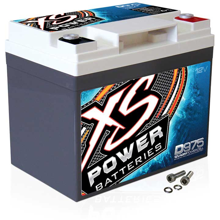 XS POWER 1000/2000W 12V AGM BATTERY 2100A MAX AMPS