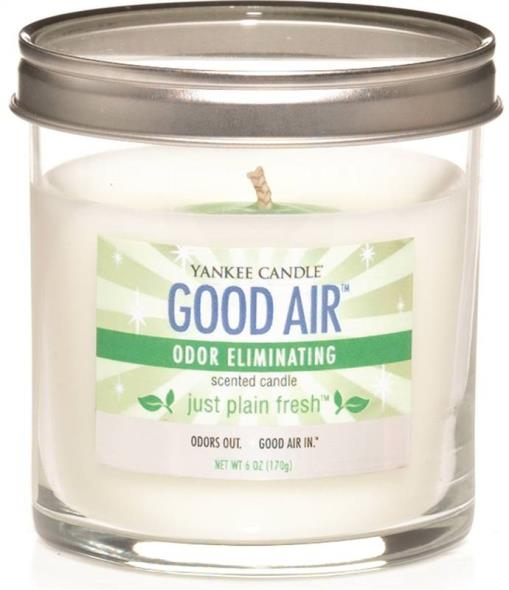 Good Air 1198008 Odor Eliminating Small Candle, 6 oz Capacity, Clean Linen