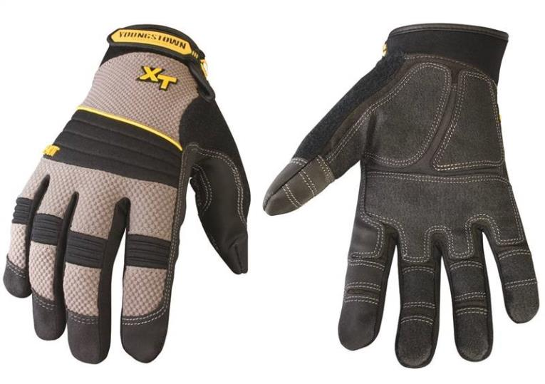 Youngstown Pro XT Heavy Duty Mechanic Gloves, 2X-Large, Kevlar, Gray, Unlined Lining