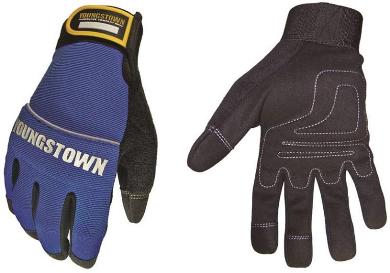 Mechanics Plus 06-3020-60 Breatheable Mechanic Gloves, 2X-Large, Blue