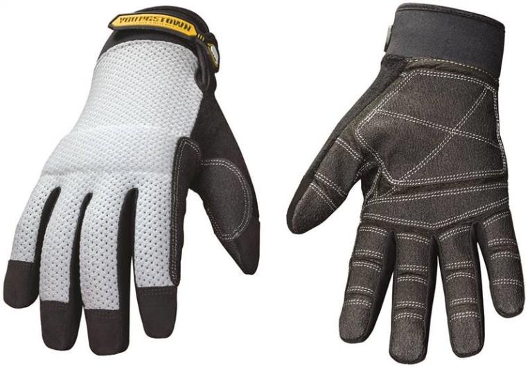 Youngstown Mesh Utility Plus Ultra Breathable Mesh Mechanic Gloves, 2X-Large, Bonded Nylon, Gray