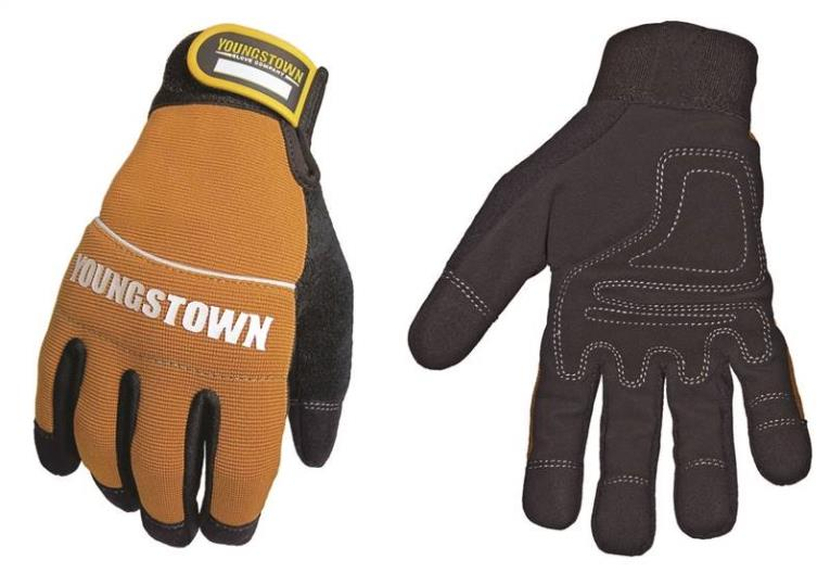 Tradesman Plus 06-3040-70 Protective Gloves, 2X-Large, Nylon, Yellow/Black