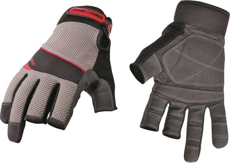 Youngstown Carpenter Plus 03-3110-80-L Work Gloves, Large, Double Stitched Nylon