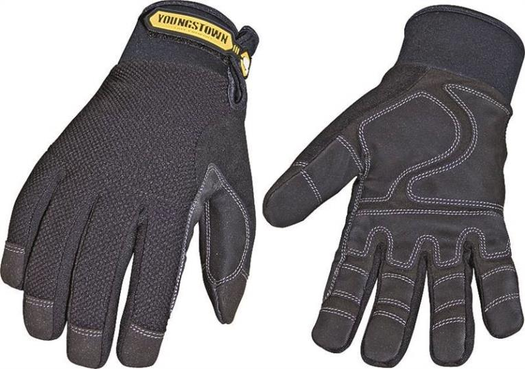 Youngstown Waterproof Winter Plus 03-3450-80-L Insulated Work Gloves, Large, Double Stitched Nylon