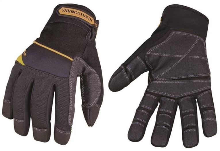 Youngstown General Utility Plus 03-3060-80-M All Purpose Heavy Duty Work Gloves, Medium, Nylon