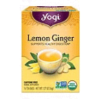 100% Natural Herbal Tea Caffeine Free Lemon Ginger ( 6 - 16 BAG )