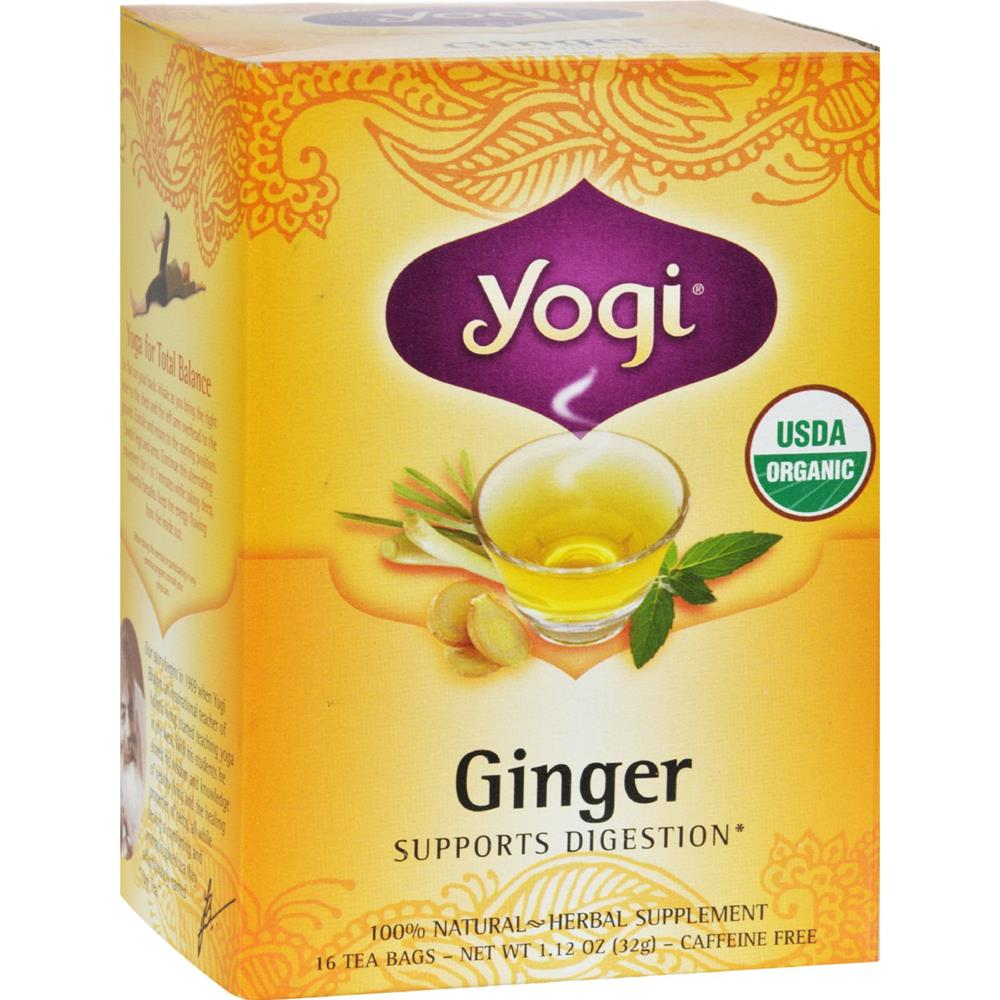 Yogi - Organic Caffeine Free Ginger Herbal Tea ( 6 - 16 BAG)