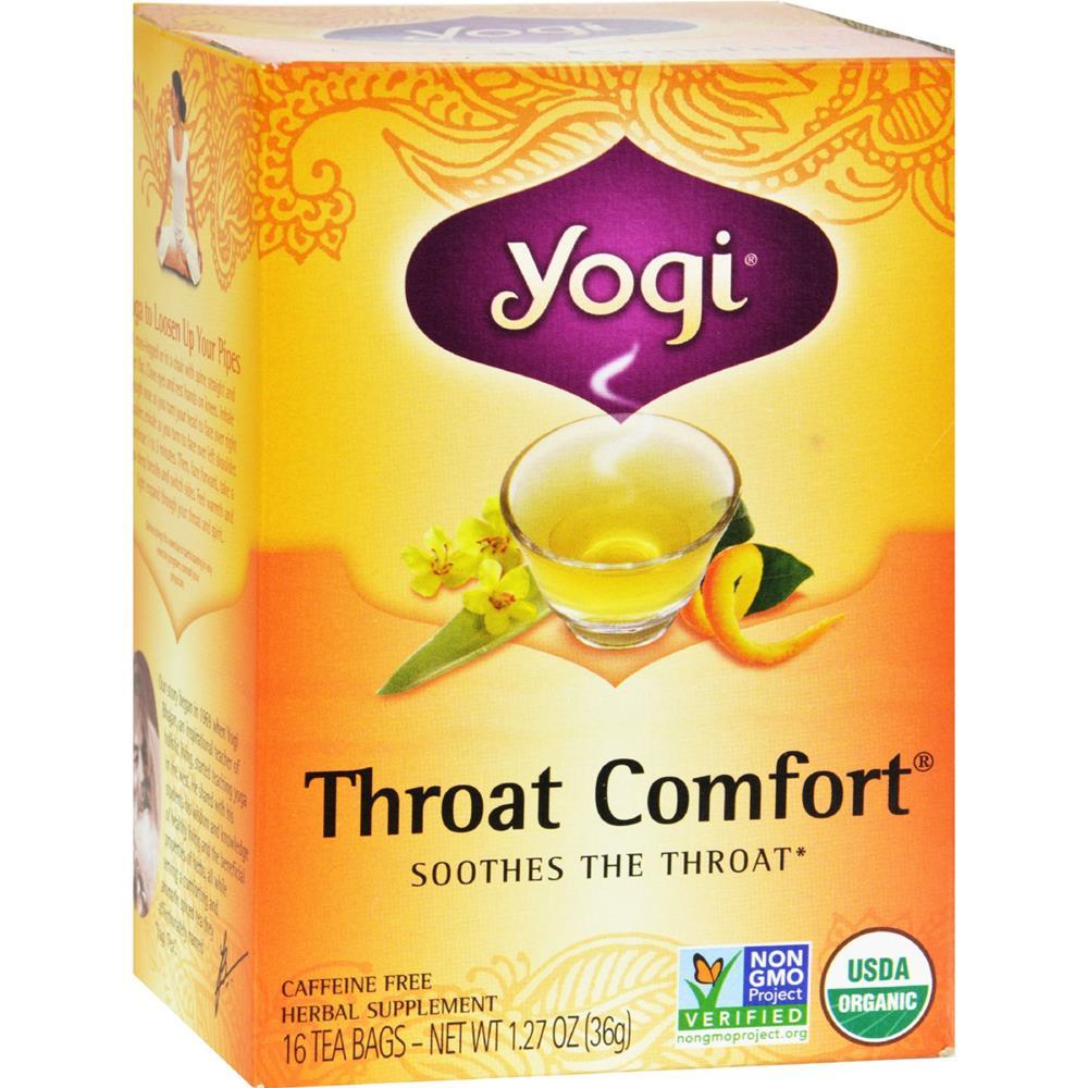 Yogi - Organic Throat Comfort Herbal Tea Caffeine Free ( 6 - 16 BAG)