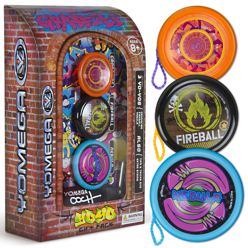 3 Piece Yomega Urban Graffiti Yo-Yo Gift Set