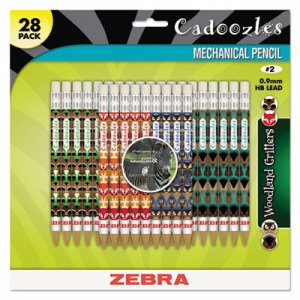 Cadoozles Mechanical Pencil, Refillable, #2, Assorted Barrels, 0.7 mm, 28/Pack