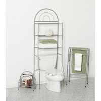 Zenith Bath-In-A-Box 3-Piece Combination Bathroom Shelving Kit, Pearl Nickel