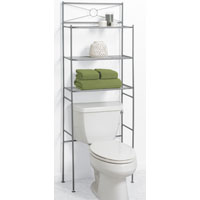 Bath Shelves Satin Nickel 3-Shelf