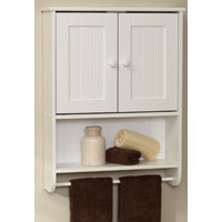 Zenith 9114W Country Cottage Double Door Bathroom Cabinet, 19.19 in W X 5-3/4 in D X 25.63 in H