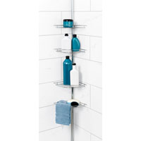 SHOWER CADDY 4-SHELF POLE CHROME