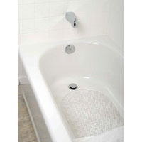 Zenith 80KK04 Bubble Bath Mat, 27-1/2 in L X 15.7 in W, Vinyl, Clear