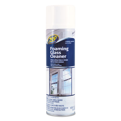 Foaming Glass Cleaner, 19 oz Aerosol, Mint Scent