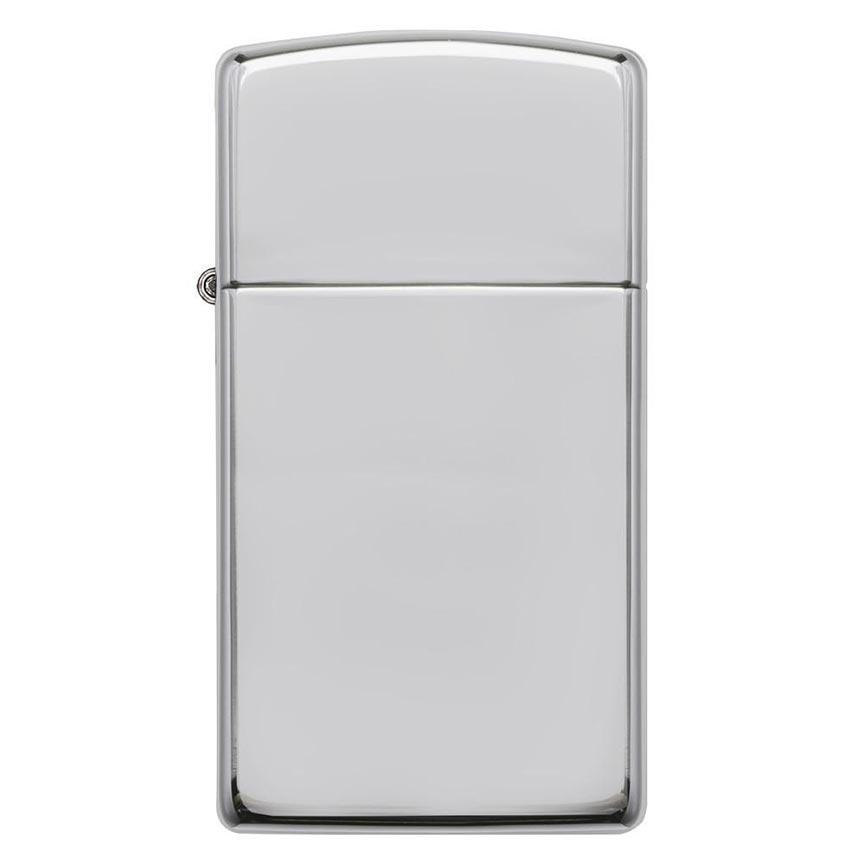 Zippo Windproof Lighter Slim Case High Polish Sterling Silver