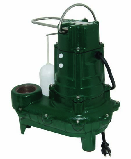 1/2 HP 115 Volts Cast Iron Sewage Pump With Variable Level Float Switch