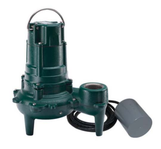 115 Volts 1/2 HP Sewage Pump With Variable Level Float Switch