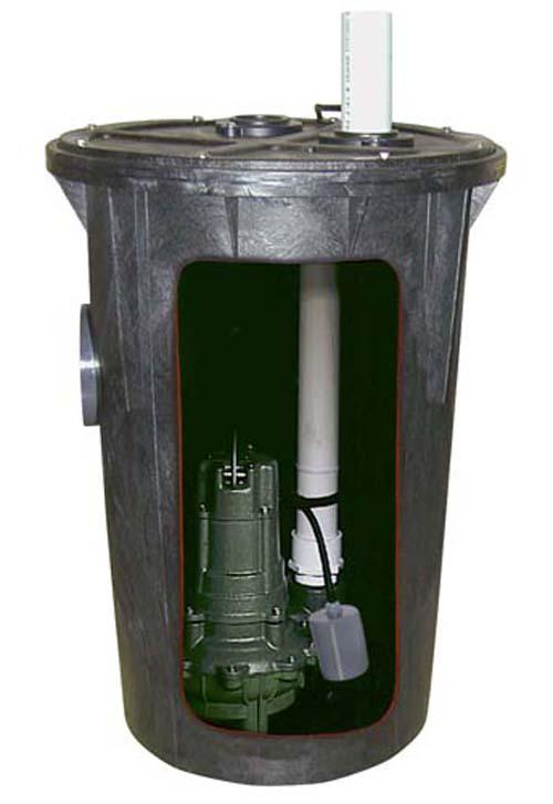 115 Volts BN264 Sewage Pump & Basin System