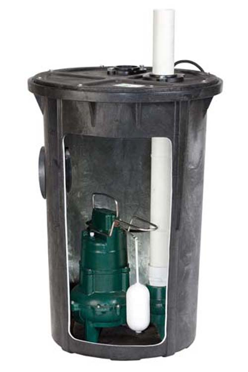 115 Volts M264 Sewage Pump & Basin System