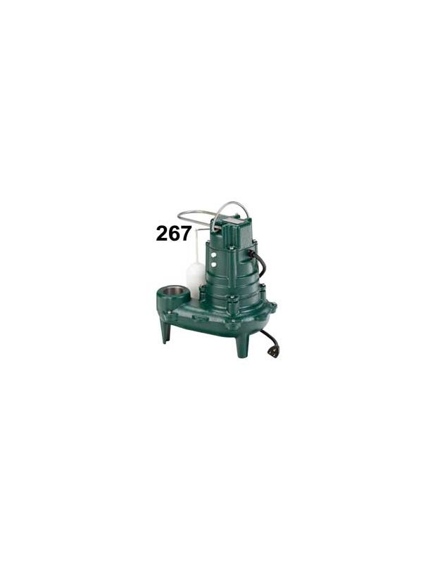 115 Volts 1/2 HP Cast Iron AUTO Effluent Submersible PUMP