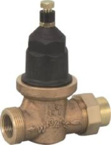 WILKINS MODEL NR3 PRESSURE REDUCING VALVE WITH INTEGRAL BYPASS CHECK VALVE AND STRAINER, 3/4 IN. FIP, LEAD FREE