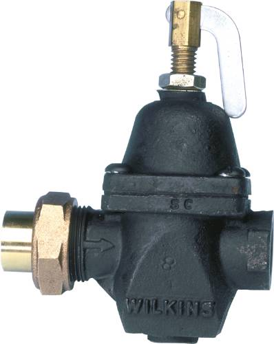ZURN WILKINS 80 SERIES WATER PRESSURE REGULATOR, 1/2 IN. COPPER SEAT X 1/2 IN. FNPT, CAST IRON BODY AND BELL