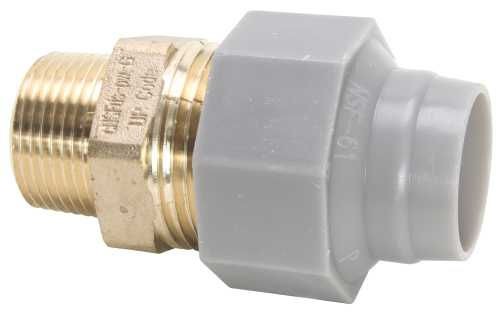 "ZURN PEX QICKTITE� BRASS MALE ADAPTER, 3/4"" X 3/4"" MPT, LEAD FREE"