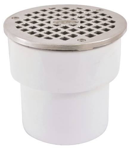 FLOOR DRAIN ADJUSTABLE 3 IN. X 4 IN. PVC HUB
